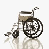 Side view of empty wheelchair. Royalty Free Stock Images