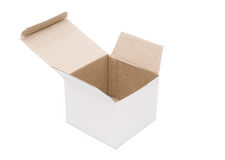 Side view empty white box Royalty Free Stock Photography