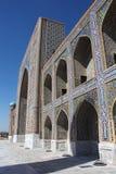 Side view of facade Tilya-Kori Madrasah Royalty Free Stock Image