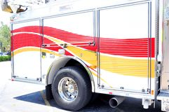 Side view of fire engine, FL Royalty Free Stock Photos