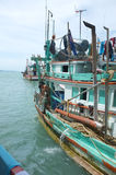 Side view of fishing boat in Thailand Stock Photo
