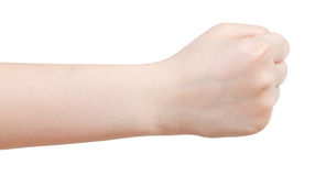Side view of fist - hand gesture Royalty Free Stock Image