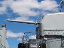 Side View Five Inch Gun World War II Battleship Royalty Free Stock Images