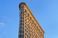 Side view of Flatiron building stock images