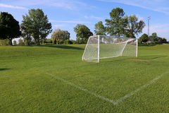 Side-View Football Pitch Stock Photography