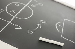 Football strategy plan Stock Images