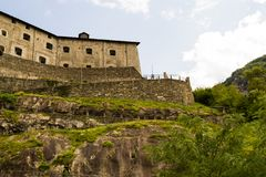 Side view of Fortress royalty free stock photos