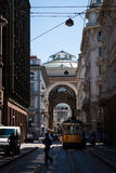Side view of Galleria Vittorio Emanuele in Milan Stock Photography