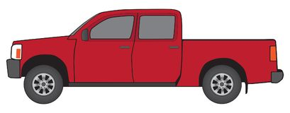 Generic Red Pickup Royalty Free Stock Photo