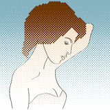 Side view of girl painted in retro style Stock Photo