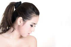 Side view of the girl. Stock Photo