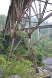 Side view of the Gladak Perak Bridge with the Zero Picket Bridge stock image