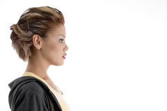 Side view of glamorous female Royalty Free Stock Images