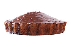 Side view of glazed pie Royalty Free Stock Image