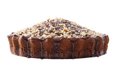 Side view of glazed and sprinkled pie Royalty Free Stock Photo
