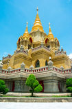 Side view gold stupa relegion of thailand Royalty Free Stock Photos