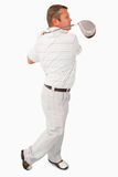 Side view of golfer Stock Images