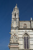 Side view of the gothic Cathedral of Siena (Italy) Royalty Free Stock Image