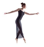 Side view of graceful ballerina dancing Royalty Free Stock Photo