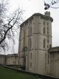 A side view of the grand entrance of the Chateau de Vincennes, Paris.  royalty free stock photo