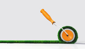 Side view of a grassy paint roller Stock Images