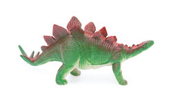 Side view green stegosaurus toy Stock Photography