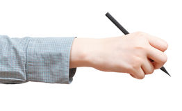 Side view of hand draws by pencil isolated Royalty Free Stock Photo