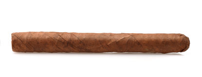 Side view of hand rolled cigar Royalty Free Stock Image