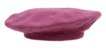 Side view of handmade felt beret isolated Royalty Free Stock Photography