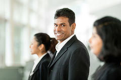 Side view of Happy Indian business team. Royalty Free Stock Photo