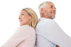 Side view of happy mature couple royalty free stock image