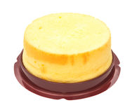 Side view home made round sponge cake with clipping pat Stock Photo