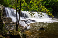 Side view of Hooker Falls on the Little River in Dupont State Fo Royalty Free Stock Photography