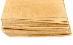 Side View Of Huge Stack of Recycled Paper cardstocks  isolated o Royalty Free Stock Image