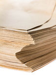 Side View Of Huge Stack of Recycled Paper cardstocks  isolated o Stock Photography