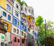 Side view of Hundertwasserhaus in Vienna Royalty Free Stock Photography