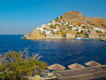 Side view of Hydra island Royalty Free Stock Images