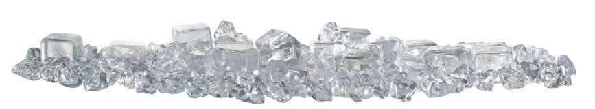 Side view of ice cubes stock image