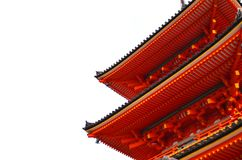 Side view of Japanese shrine roof. Japanese shrine roof, side view stock photography
