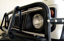 Side view of Jeep car headlight Royalty Free Stock Photography