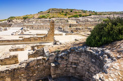 Side view for Kamiros ruins Royalty Free Stock Images