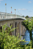 Side view of Key bridge going to Georgetown Stock Image