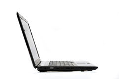 Side View Laptop Stock Photography