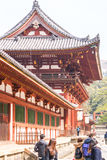Side view of the Last gate to Todai ji Temple Royalty Free Stock Photo