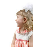 Side View a Little Girl Stock Photography