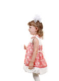 Side view a Little Girl Royalty Free Stock Photography