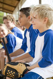 Side view little league baseball team Stock Photography
