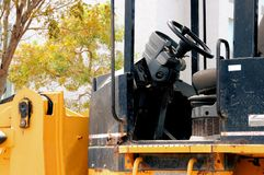 Side view of loader cab Royalty Free Stock Image