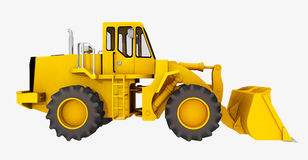 Side view of a loader Royalty Free Stock Photos