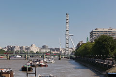 Side View of London Eye Stock Image